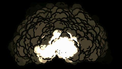 Nuclear blast,smoke,VFX element... Stock Video Footage