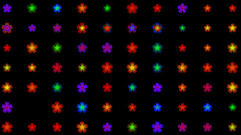flower neon... Stock Video Footage
