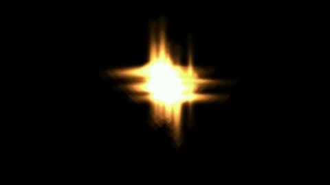 Fiery flicker golden... Stock Video Footage