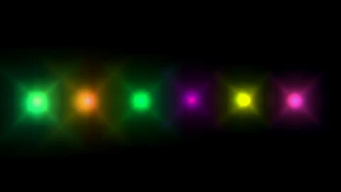 Neon disco light,digital... Stock Video Footage