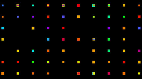 Color square matrix,background,gems,jade,Game,Led,neon lights,material,Fireworks,vj,art,decorative,m Animation