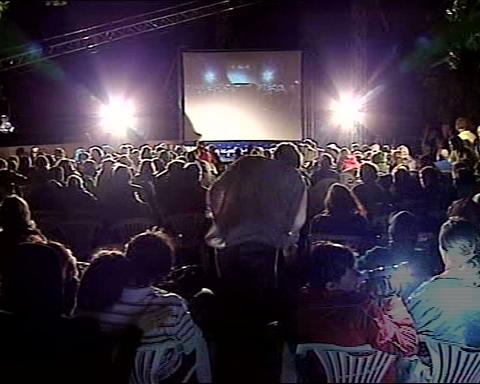 film festival open air Stock Video Footage