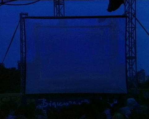 film festival open air 02 Stock Video Footage