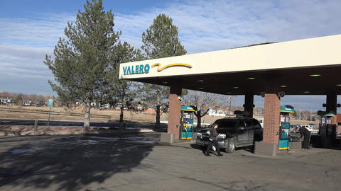 Valero Gas Station At Day Footage