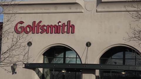 Golfsmith Outer Building View stock footage