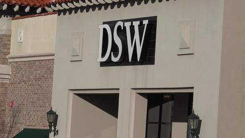 DSW (Discount Shoe Warehouse) Store Exterior stock footage