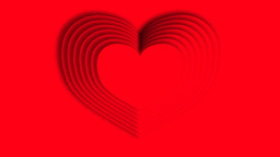 Hearts appears on red background Animation