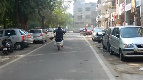 Dangerous Bike Stunt/Bike Stunt/ Two Wheeler Stunt stock footage