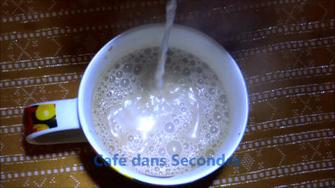 Coffee In Seconds stock footage