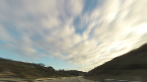 Fast Driving on the Highway Footage