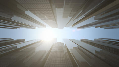 Sun Time Lapse Over Business Center stock footage