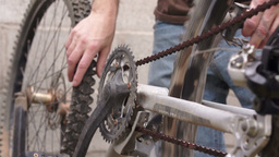 Mechanical Inspection for Fixing a Bicycle Footage