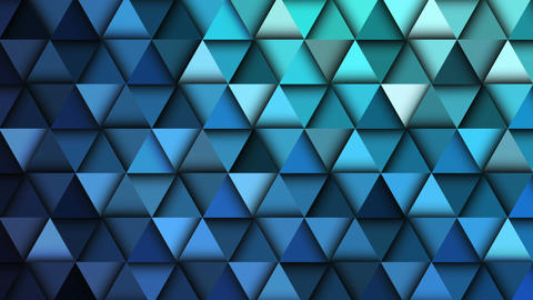 Blue geometric abstract background animation. 4K Animation