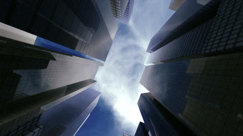 Sky Over Business Center stock footage
