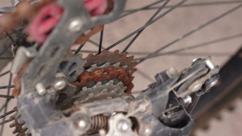 Fixing Rusty Chain Sprocket on Bike Footage