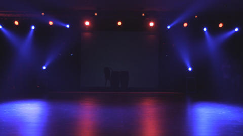 Stage and Lights before show Footage