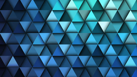 Blue Geometric Abstract Background Animation stock footage
