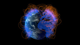 Network Formation Around Earth stock footage
