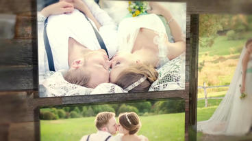 Gallery Wedding Story Template stock footage