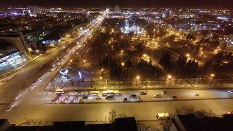 Aerial View Of City At Night 0