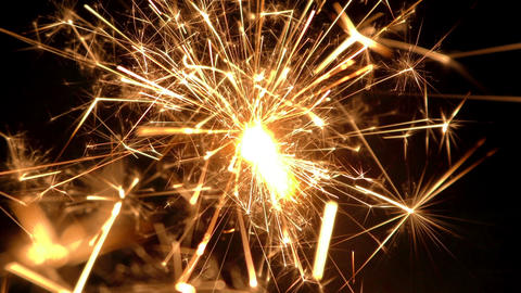 sparkler slow motion 03 Footage