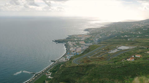 FullHD, Panned View Over Santa Druz De La Palma stock footage