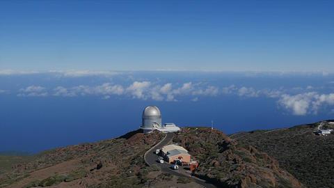 1080p. Majestic View At Roque De Las Muchachos, La stock footage