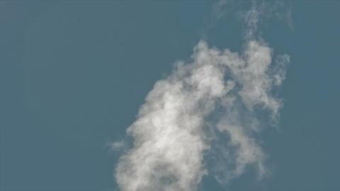 Smokestack on blue sky Footage