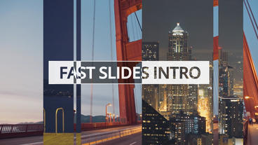 Fast Slides Intro stock footage