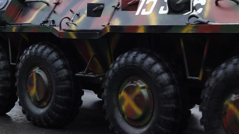 Armored Transportation Vehicle Footage