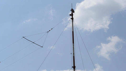 Aviation Radio Station Antenna stock footage