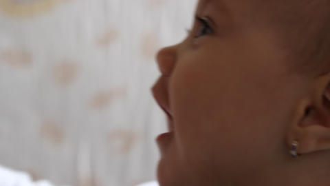 Baby in Profile Portrait Footage