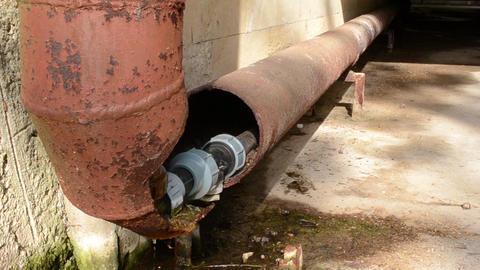 Broken Rusty Water Pipe Footage