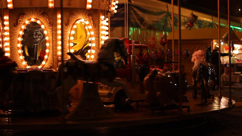Carousel by Night Footage
