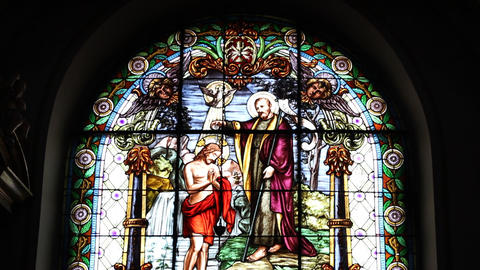 Christ Church Stained Glass Footage