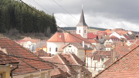 Church in a Mountain Village Footage
