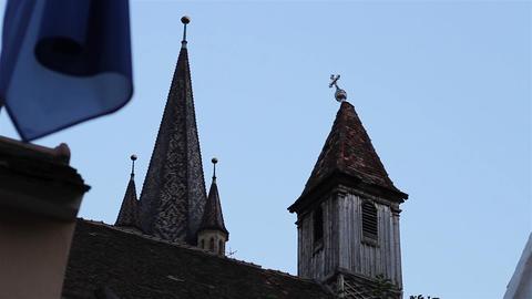 Crooked Cross on the Steeple Footage