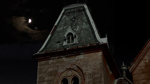 Dark Night Manor stock footage