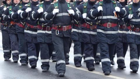 Firemen Unit Footage