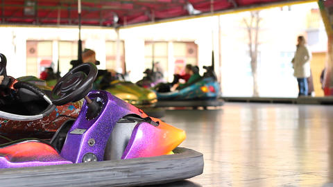 Fun with Electric Bumper Cars Footage