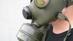 Gas Mask Side View Footage