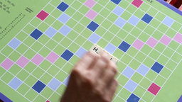 Hello Scrabble Game Message stock footage