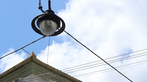 Lantern Hanging over the Street Footage