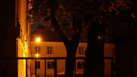 Lantern Above Old Building Entrance Footage
