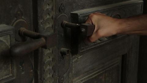 Locked Rusty Door Footage
