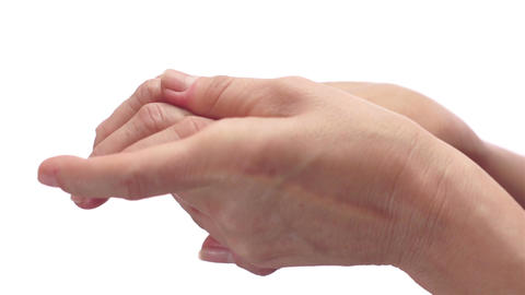 Woman Rubbing Her Painful Arthritis Hand Live Action