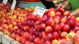 Nectarines at Market Footage