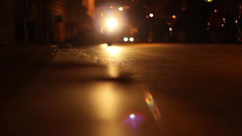 Night Riders on Streets Footage