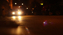 Nighttime Low Angle Cars stock footage