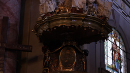 Old Church Pulpit Footage